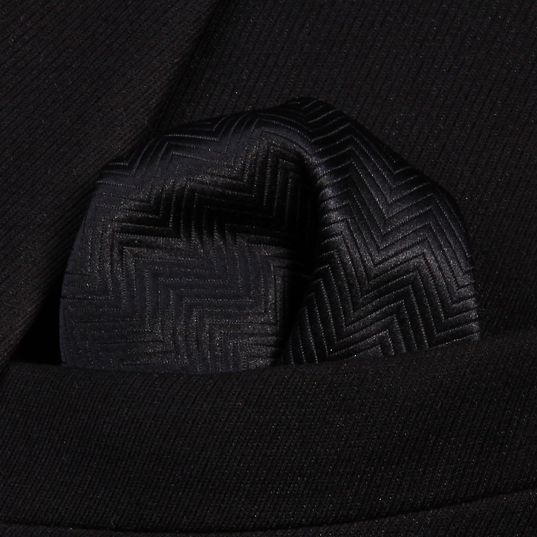 HS704L Black Striped Men 100% Silk Party Handkerchief Pocket Square Hanky