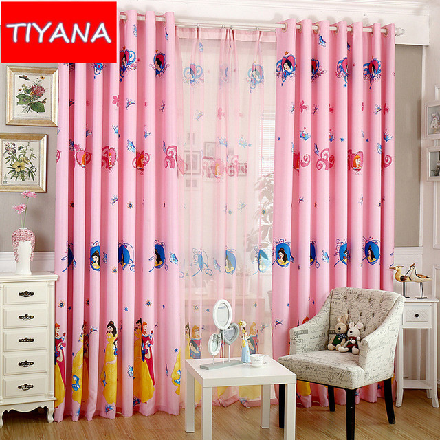 Kids Bedroom Blinds aliexpress : buy cartoon curtains for bedroom cute princess