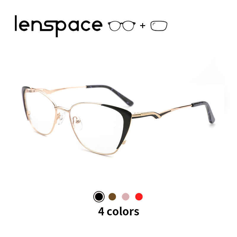 Metal Glasses Frame Women's glasses Cat Eye Eyeglasses Women Myopia Glasses Optical Prescription Glasses Retro Women Spectacle(China)