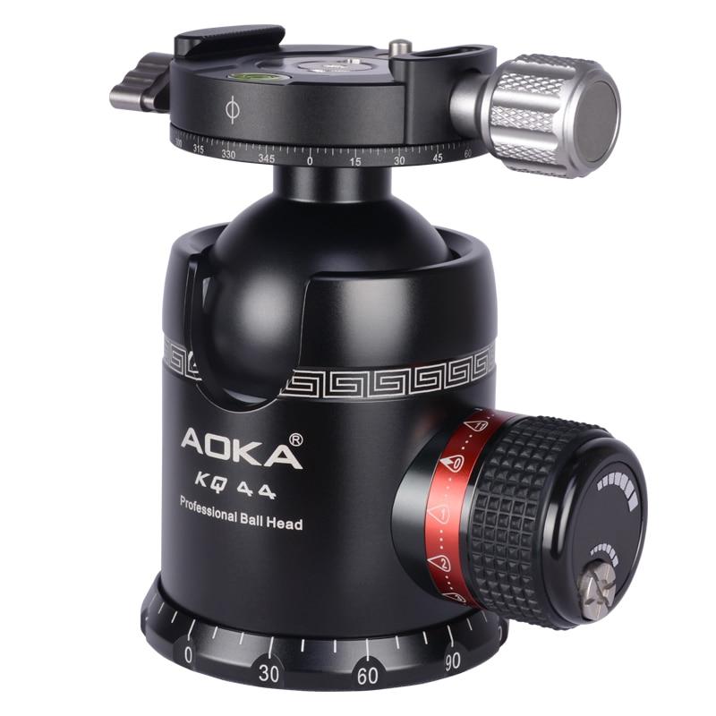AOKA KQ44 max loading 30kgs professional dslr camera tripod ball head with quick release plate