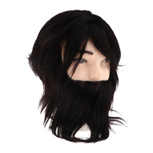 20 cm Male Synthetic Fiber Hairdresser Salon Training Practice Head Manikin Cosmetology Doll(China)