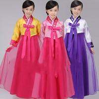 Children's traditional Korean clothes Hanfu Dai Changchun girl costumes minority dance clothes South Korean clothing