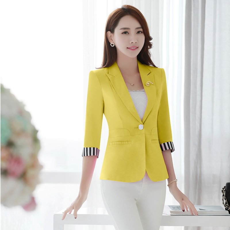 Popular Womens Yellow Blazer-Buy Cheap Womens Yellow Blazer lots ...
