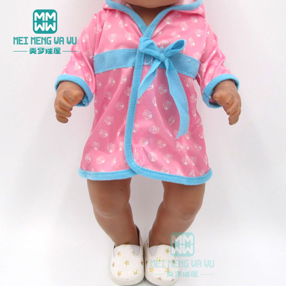 Baby Clotehs For Doll Fit 43cm New Born Doll Accessories Girl Dress Rose Pajamas