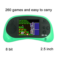 RS 8A Video Game Console 8 Bit 2 5 Inch Handheld Game Player Built In 260