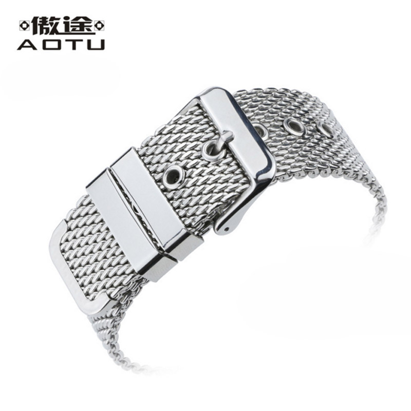 18 20 22mm Stainless Steel Watchbands For IWC Men Mesh Strap Watch Band For Women Top Quality Ladies Bracelet Belt Watch Strap stainless steel watch band for tissot 1853 t085 427 410 watches strap ladies bracelet belt top quality watchbands for men watch