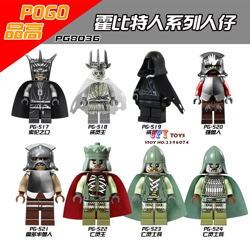 8pcs star wars super hero Hobbit Haldir Terill Elf Prince Captain Guard building blocks model bricks toys for children juguetes