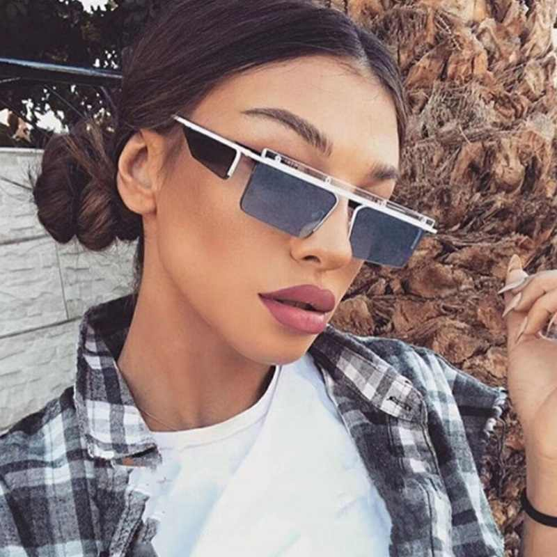 7a60f2f9315f Luxury Designer Women Men Sunglasses 2018 Fashion Rimless Square Sun  Glasses Unisex Stylish Metal Sunglass UV400
