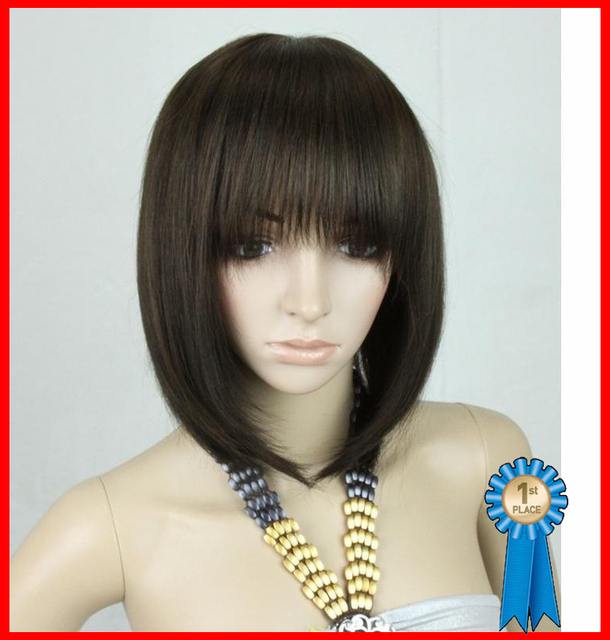 """whole-sales,16"""" 110g short Silky Straight Full wigs/Blended Hair wigs,free shipping"""