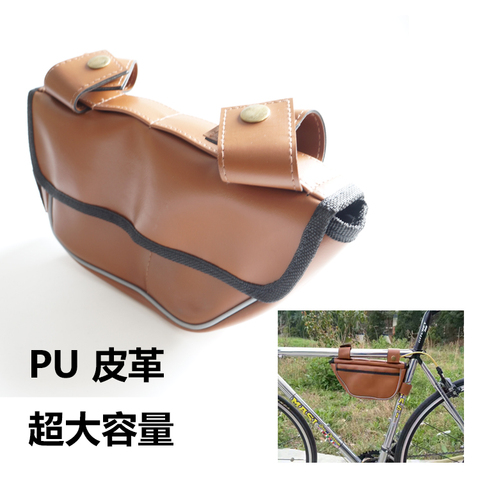 Retro Bike Bag Triangle Package Saddle Bag On The Tube Riding Equipment for Fixed Gear Rode Bike Bags Pakistan