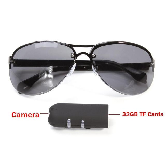 7f58b4a3340 Mini Camera HD Sunglasses 1080P Glassess Micro Video Camera Recorder Secret  DV Security Bicycle Invisible Fashional-in Mini Camcorders from Consumer ...