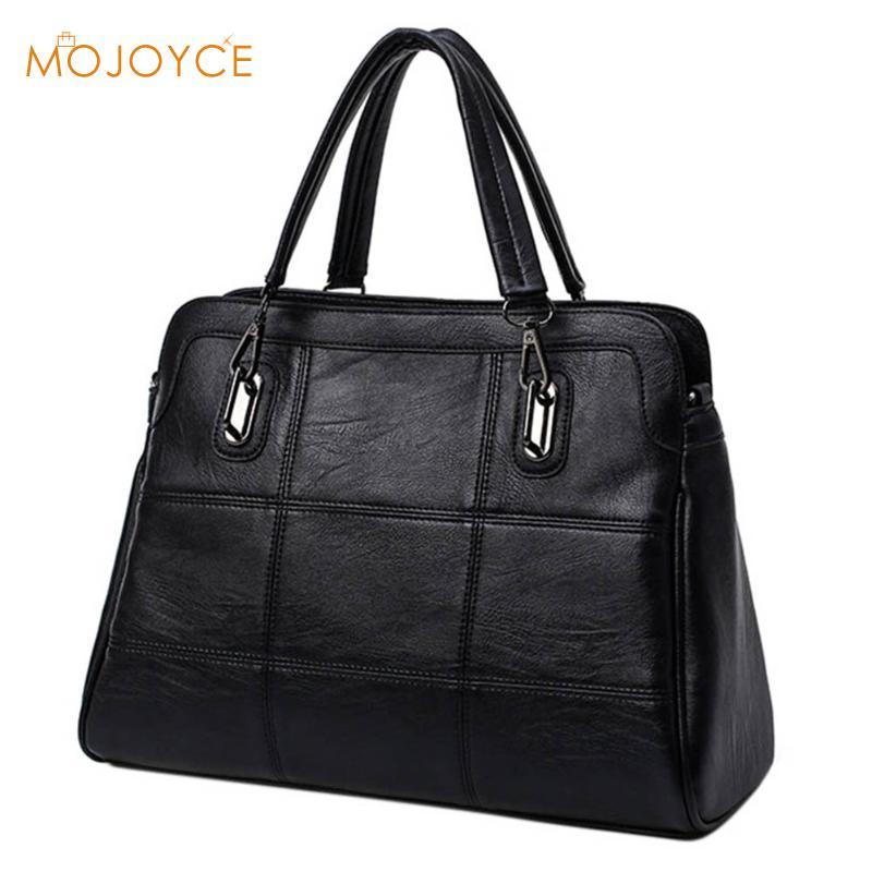Fashion Ladies Hand Bag Women's PU Leather Handbag Black Leather Tote Bag Bolsas femininas Female Shoulder Bag 2018 Winter Hot