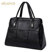 Fashion Ladies Hand Bag Women's PU Leather Handbag Black Leather Tote Bag Bolsas femininas Female Shoulder Bag 2017 Winter Hot(China)