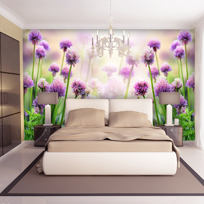 3d 3d Papel de parede purple flower mural 3d wall mural for living room Background 3d wall photo murals home decor 3d ручка feizerg f001 purple fp001