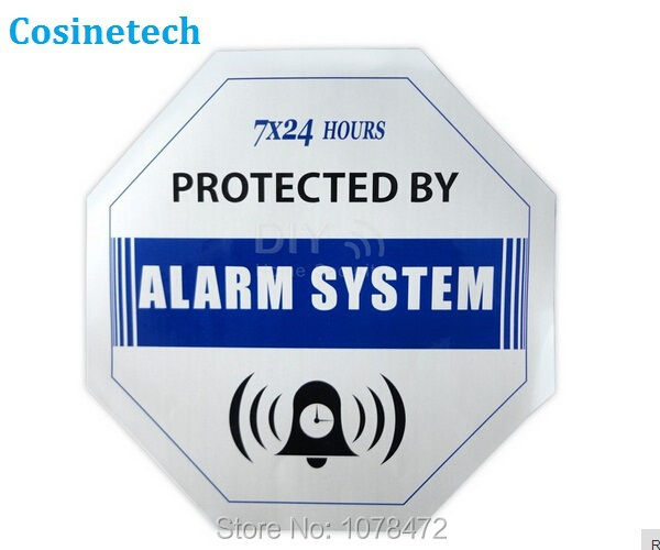 5 PCS Caution blue Decals Waterproof  Warning Sign Sticker for Home Security GSM PSTN camera burglar Alarm sign sysetem sensors расчески marlies moller профессиональная супер щетка для укладки brushes
