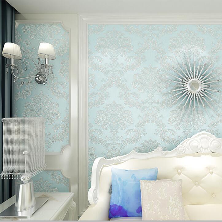 Fashion modern 3d for horse wallpaper tv eco-friendly non-woven flower damask wallpaper