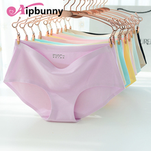 Aipbunny Newest Panties Sexy Women Candy Color Traceless Briefs Ice Silk Cool Intimates Knickers Seamless Underwear Sleepwear