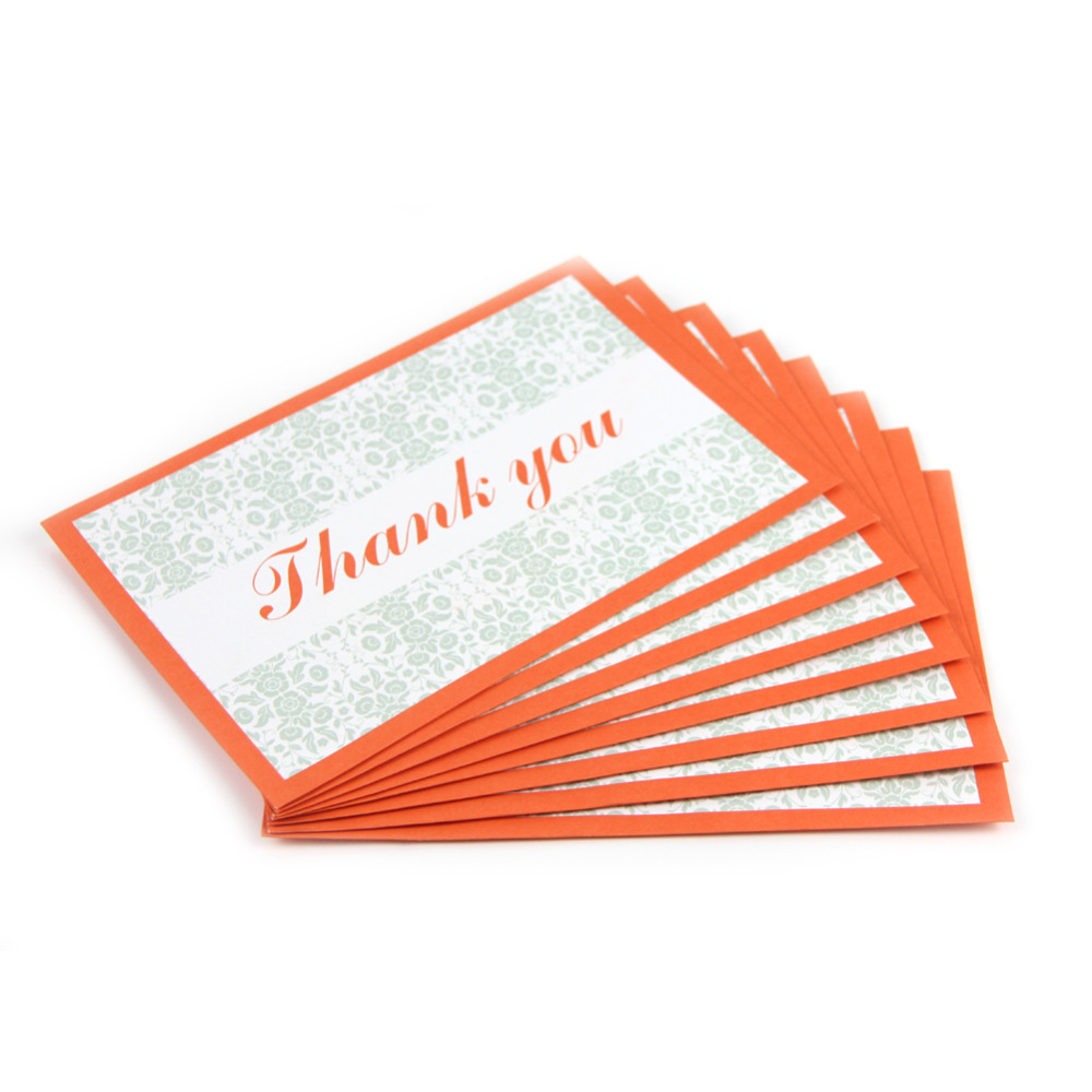 Wedding Gift Thank You Cards: 8pc Modern Elegant Wedding Thank You Card Envelopes,Note