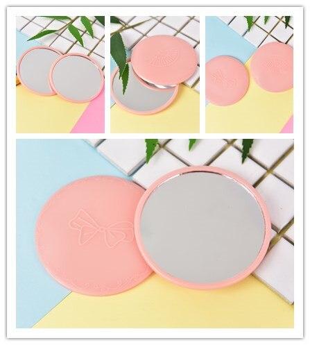 Dia 7 Cm Taschenkosmetikspiegel Farbe Zufällig Kompakten Metall Mini Make-up Spiegel Schönheit & Gesundheit Haut Pflege Werkzeuge