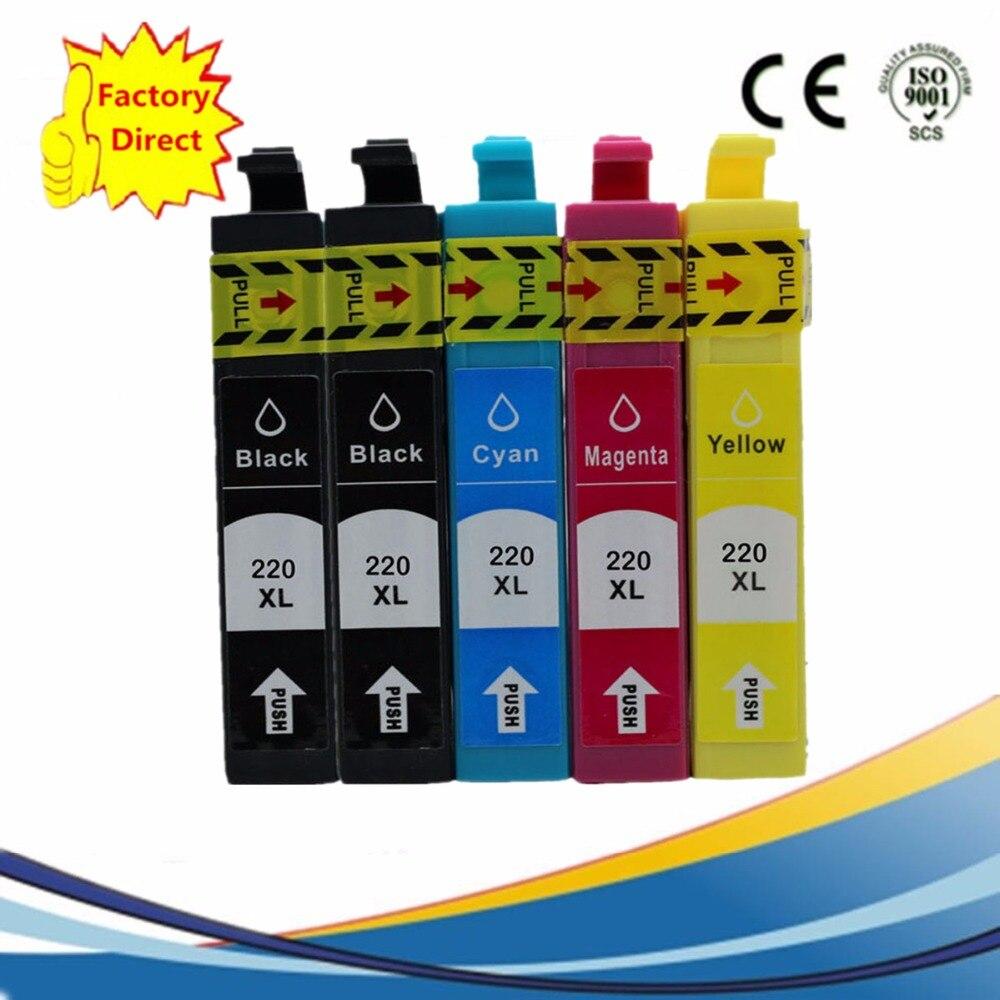 5 x Cartucce di Inchiostro di Ricambio Per Epson T220 T2201 T2204 220XL  Workforce WF-2630 WF-2650 WF-2660 XP420 XP424 XP-320 XP-420 9cb15d0a9a3