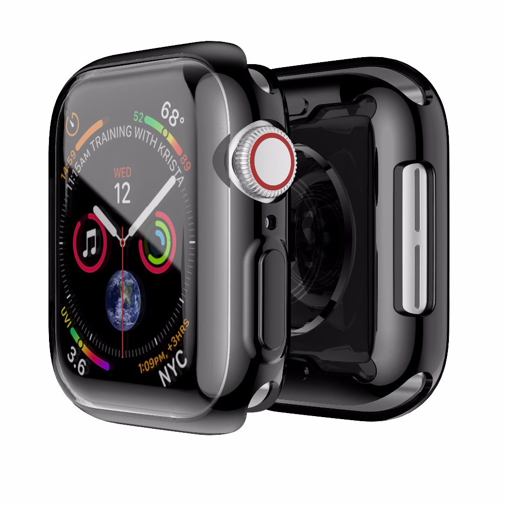 Soft Clear Case For Apple Watch Series 4 Slim Cover 40mm 44mm TPU Soft Case For Apple Watch Case Protect Cover