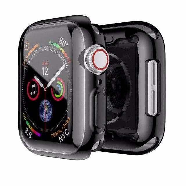 Прозрачный мягкий чехол для Apple Watch Series 4 Тонкий чехол мм 40 мм 44 мм TPU мягкий чехол для Apple Watch защитный чехол