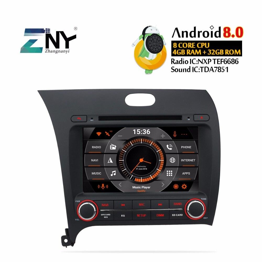 8 IPS Display Android 9.0 Car DVD For Kia Cerato K3 Forte 2013 2014 2015 2016 Auto Radio Stereo GPS Navigation Free Rear Camera