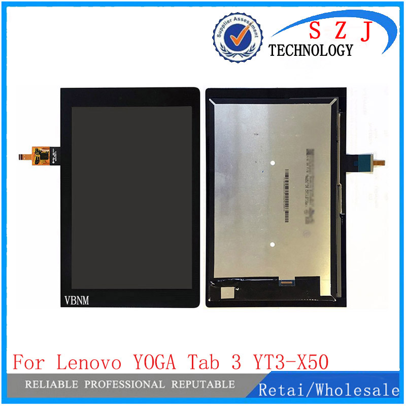 New 10.1 inch case For Lenovo YOGA Tab 3 YT3-X50F YT3-X50 LCD Display + Touch Screen Panel Digitizer Glass Lens Free Shipping new 8 inch case for lenovo ideatab a8 50 a5500 a5500 h lcd display touch screen digitizer glass sensor panel replacement