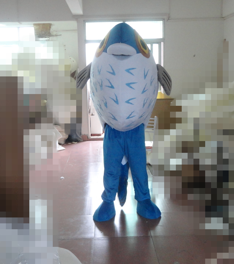 High quality hot sale adult fish costume good quality fish mascot blue fish mascot costume Holiday special clothing