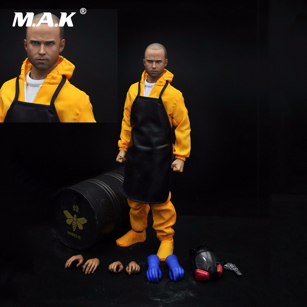 1/6 Scale Male Full Action Figure Breaking Bad Chemistry Teacher Jesse Pinkman Head Aculpt & Body & Clothing & Accessories Set car styling carbon fiber auto rear wing spoiler lip for vw scirocco 2010 2012