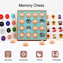 Funny Memory Match Chess 3D Wooden Puzzles Kids Logical Thinking Game Educational Toys Family Party Game Children Birthday Gifts memory chess memory game wooden children early education educational toys table training children s educational toys gifts
