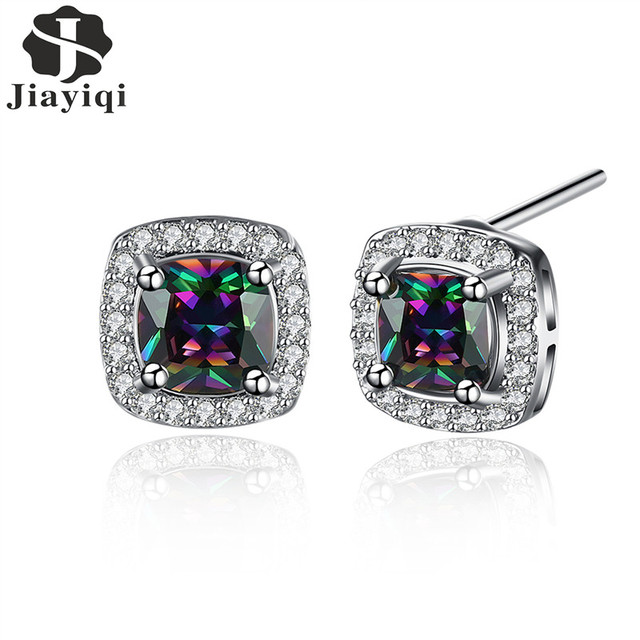 Rainbow Fashion Crystal Cubic Zirconia Earrings
