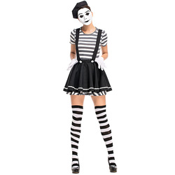 Adult Womens Mesmerizing Mime Halloween Costume