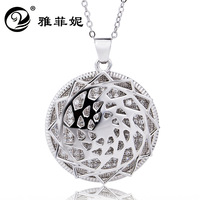 Fe ni 925 sterling silver jewelry Round pentagram pendant necklace set auger amazon hot style in Europe and America