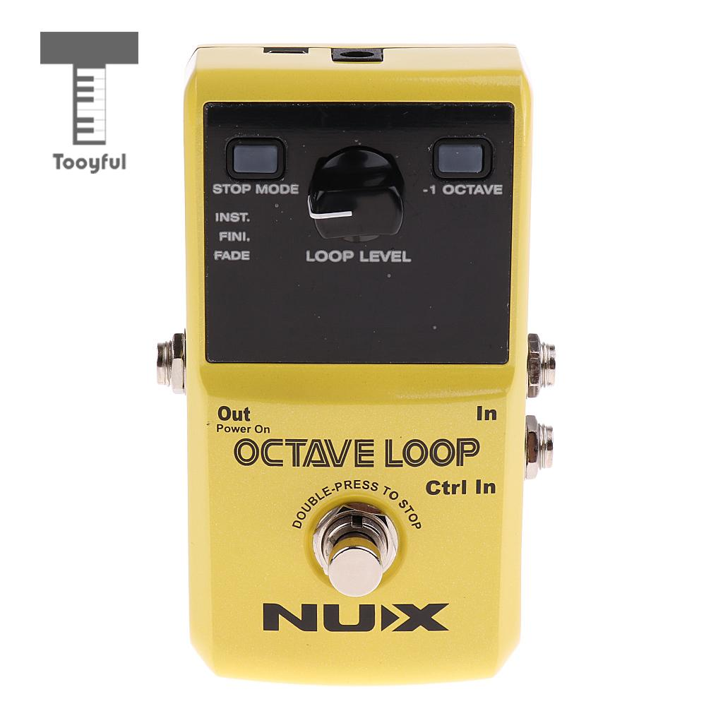 Tooyful Durable Yellow Aluminum Guitar Octave Loop Effect Pedal True Bypass Looper Pedal Uncompressed Sound Stage Accompaniment loop effect pedal 3 way looper switcher guitar effect pedal true bypass electric guitar parts accessories