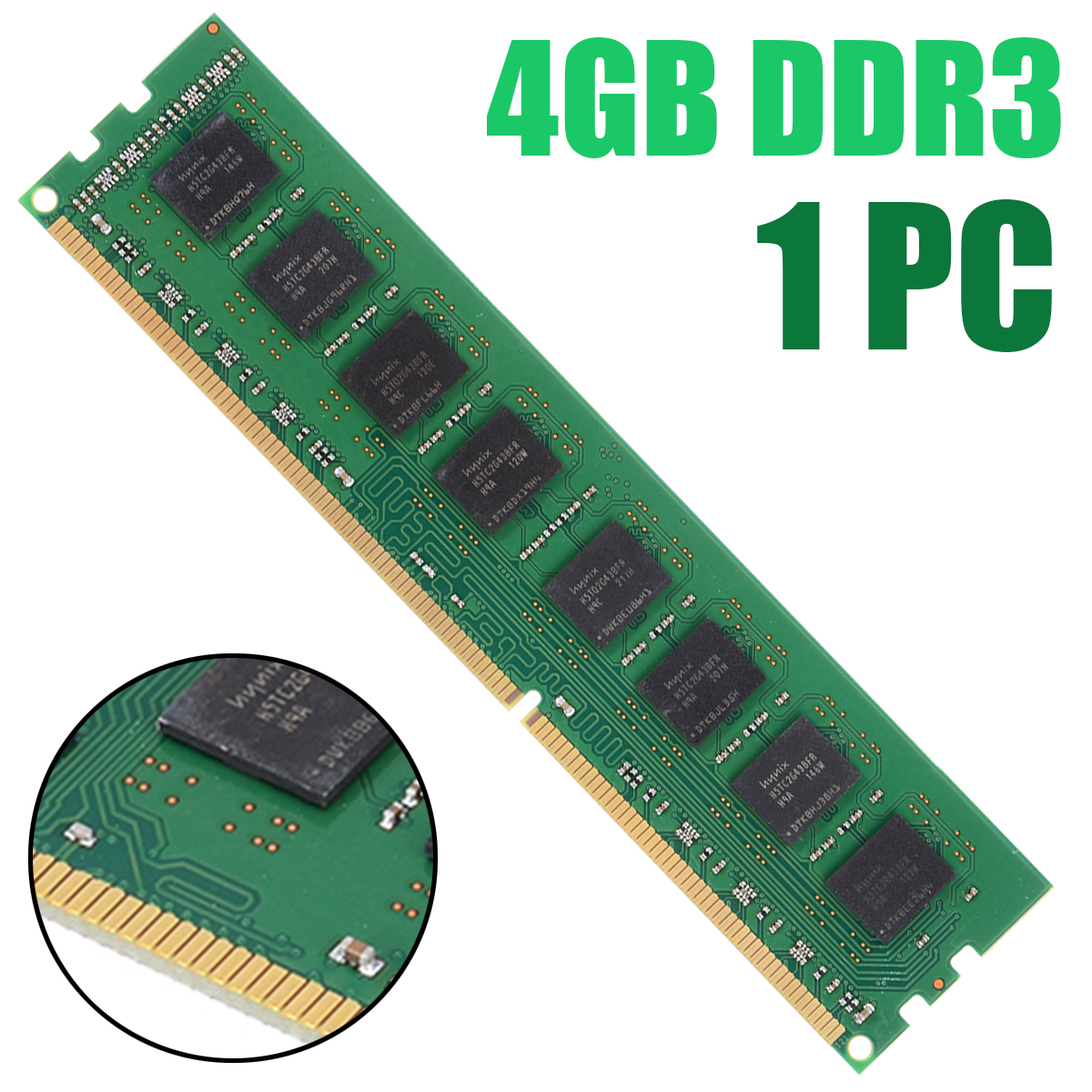 Pohiks 4GB Desktop Memory <font><b>PC3</b></font>-<font><b>10600</b></font> <font><b>DDR3</b></font> <font><b>1333</b></font> Mhz 240Pin 4G <font><b>Ram</b></font> Dual Channel For AMD Desktop PC DIMM Memory image