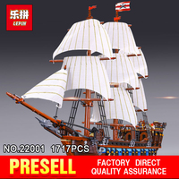 2016 Presell 22001 LEPIN 1717pcs Pirate Ship Imperial Warships Model Building Kits Minifigure Blocks Briks Toys