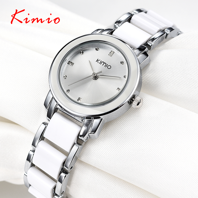 Kimio 2018 Brand Ladies Imitation Ceramic Watch Luxury Gold ...