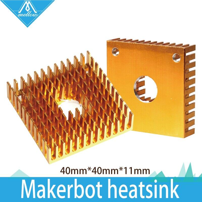 Alta Calidad 5 unids/lote 3D Makerbot impresora disipador de calor 40mm * 40mm *