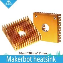 High Quality 5pcs/lot 3D printer Makerbot heatsink 40mm*40mm*11mm for mk7/MK8 extruder Free shipping(China (Mainland))