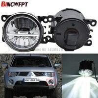 2 шт., Автомобильные светодиодные противотуманные фары высокой яркости 12 В H11 для Mitsubishi Triton L200 Strada Sportero Hunter 06-15