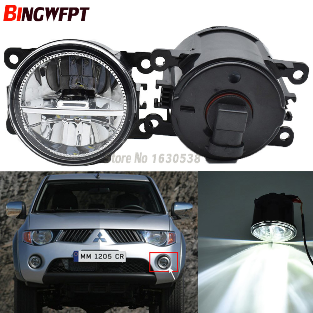 2PCS Car-styling High Brightness White LED Fog Lights 12V H11 For Mitsubishi Triton L200 Strada Sportero Hunter 06-15