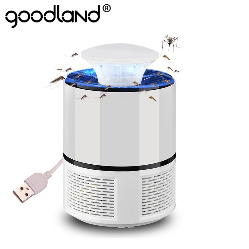 Goodland LED Mosquito Killer <font><b>Lamp</b></font> USB Anti Mosquito Electric Bug Zapper Silent Mosquito Trap For Outdoor Bedroom Insect Killer