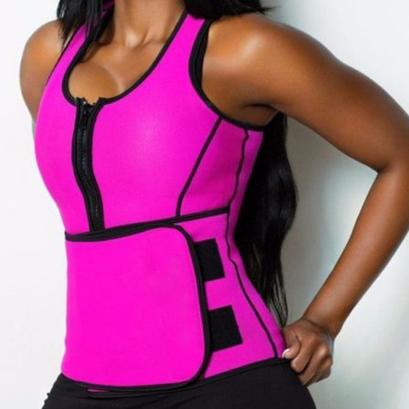 Women Sweat Neoprene Sauna Waist Trainer Vest Hot Sexy Shaper Workout Vest Slimming Adjustable Tummy Body Control Shapewear Top