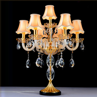 Italian wedding candle holders Big candle table lamps large Gradient candelabra Crystal bedroom candle table light crystal lamp