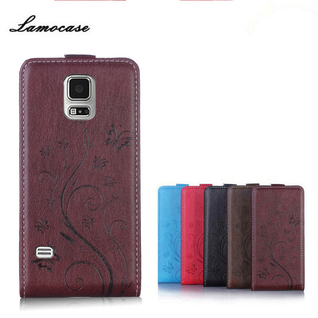 """Case For Samsung Galaxy S5 Neo SM-G903F S5 G900F SM-G900F SM-G900H I9600 5.1""""Leather Embossing Flip Protective Phone Bags Luxury"""
