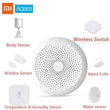Xiaomi Aaqara умный дом наборы двери оконный датчик человеческого тела беспроводной переключатель шлюз влажность воды датчик для Apple домашний комплект
