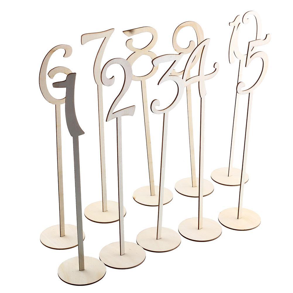 Творческий Деревянный сиденье номер 1 до 10 указатели бар сиденья доска для Свадебная вечеринка таблицы Numbers 2017