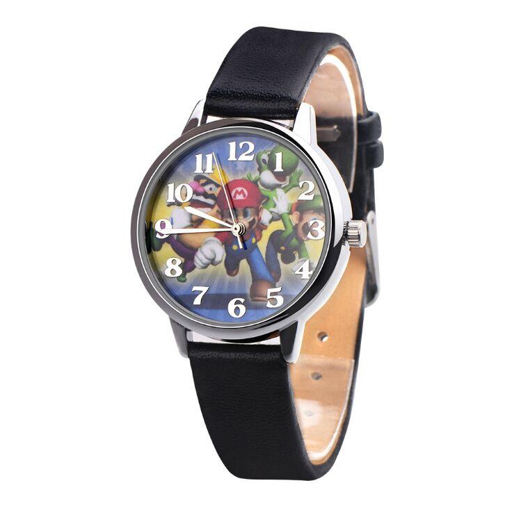 2018 New Super Mario Watch Quartz Kids Sports Fashion Cartoon Watch Wristwatch Boy Students Christmas Relogio Watch
