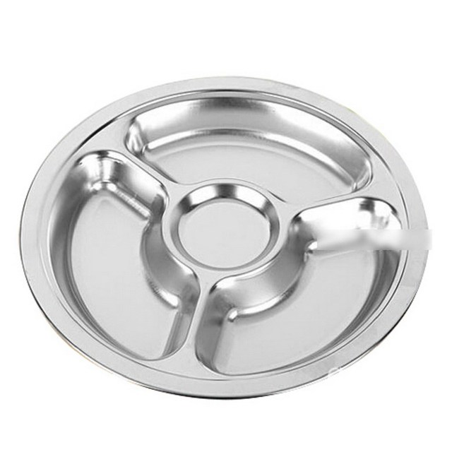 1pcs Stainless Steel Students Grid Dinner Round Divided Plate Plate 4 Sections  sc 1 st  AliExpress.com & 1pcs Stainless Steel Students Grid Dinner Round Divided Plate Plate ...